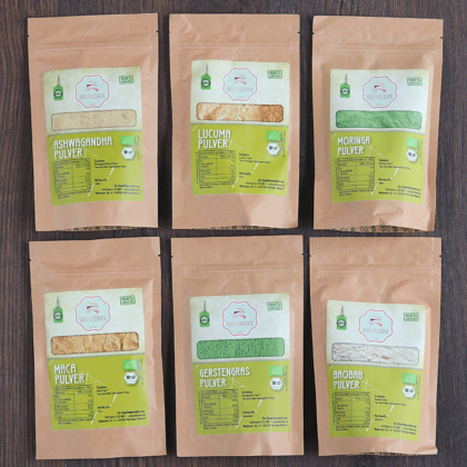 "Bio Probierset ""Superfood-Pulver"" 